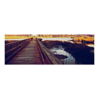 South Carolina Sunset 36x12 Poster