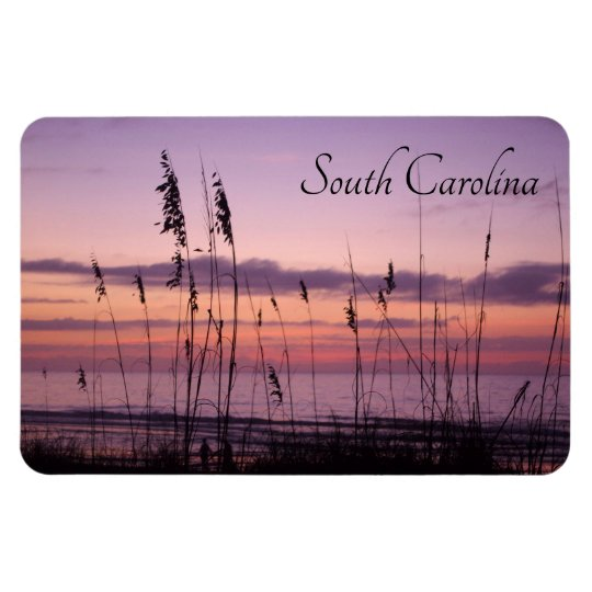 South Carolina Sunset with Sea Oats Magnet