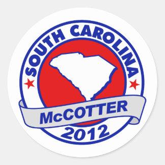 South Carolina Thad McCotter Stickers