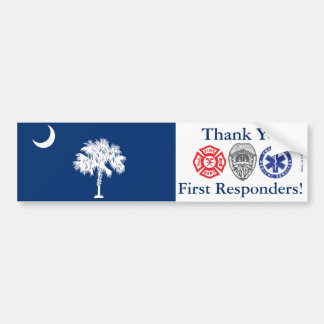 South Carolina - Thank You First Responders Bumper Sticker