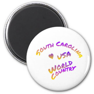 South Carolina usa world country, colorful text ar Magnet