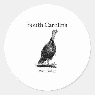 South Carolina (wild turkey) Classic Round Sticker