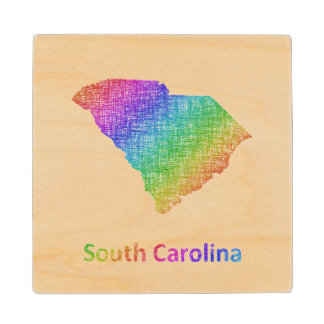 South Carolina Wood Coaster