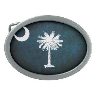 South Carolinan Flag; Oval Belt Buckle