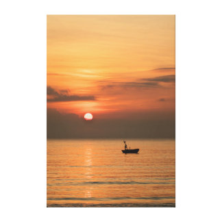 South China Sea Sunrise Canvas Print