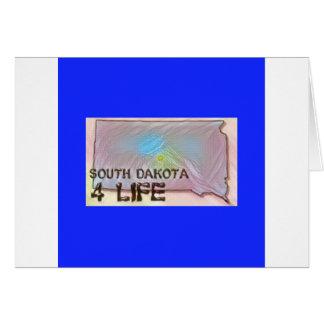 """South Dakota 4 Life"" State Map Pride Design Card"