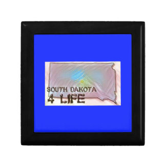"""South Dakota 4 Life"" State Map Pride Design Gift Box"