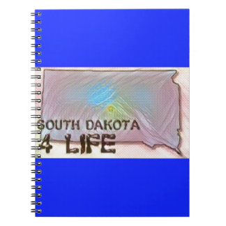 """South Dakota 4 Life"" State Map Pride Design Notebook"