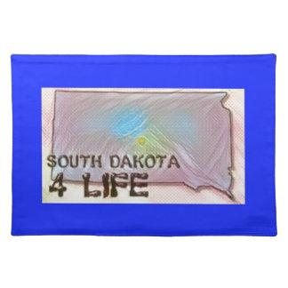 """South Dakota 4 Life"" State Map Pride Design Placemat"