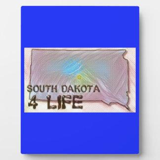 """South Dakota 4 Life"" State Map Pride Design Plaque"