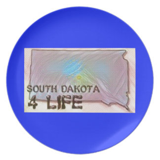 """South Dakota 4 Life"" State Map Pride Design Plates"