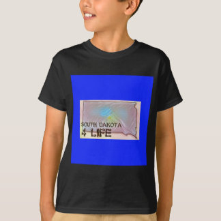 """South Dakota 4 Life"" State Map Pride Design T-Shirt"