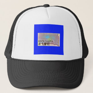 """South Dakota 4 Life"" State Map Pride Design Trucker Hat"