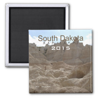 South Dakota Bad Lands Fridge Magnet Change Year