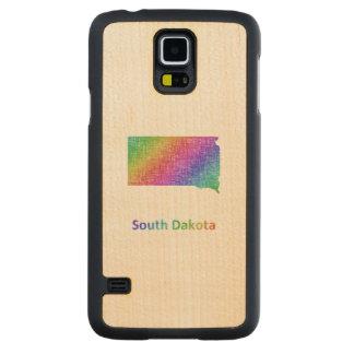 South Dakota Carved Maple Galaxy S5 Case