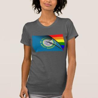 South Dakota Flag Gay Pride Rainbow Tees