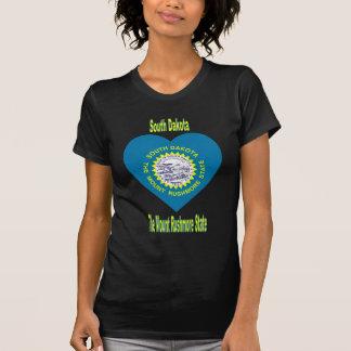 South Dakota Flag Heart T Shirt