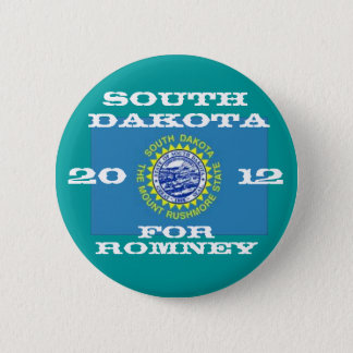South Dakota for Romney 2012 6 Cm Round Badge