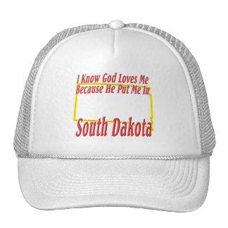 South Dakota - God Loves Me Cap