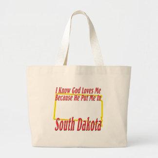 South Dakota - God Loves Me Jumbo Tote Bag