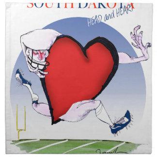 south dakota head heart, tony fernandes cloth napkin