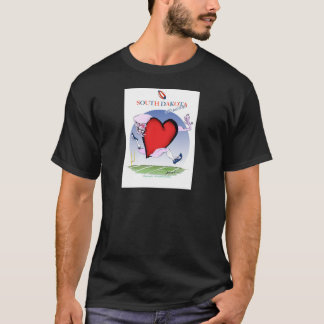 south dakota head heart, tony fernandes T-Shirt
