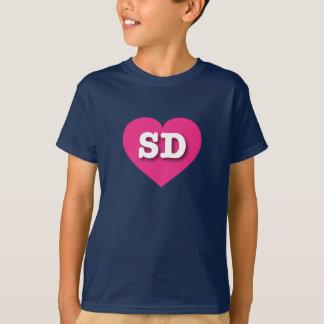 South Dakota Hot Pink Heart - Big Love Tee Shirt