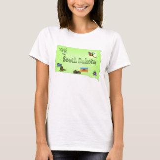 South Dakota Ladies Baby Doll T-Shirt