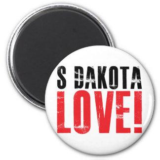 South Dakota Love 6 Cm Round Magnet