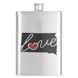 South Dakota Love!  Gifts for SD Lovers Flasks