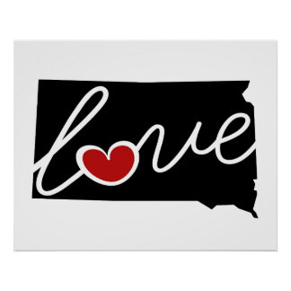 South Dakota Love!  Gifts for SD Lovers Print