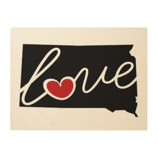 South Dakota Love!  Gifts for SD Lovers Wood Canvases