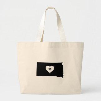 South Dakota Love Large Tote Bag