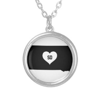 South Dakota Love Silver Plated Necklace