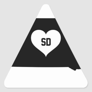South Dakota Love Triangle Sticker