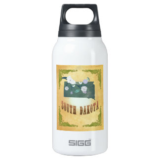 South Dakota Map With Lovely Birds 0.3 Litre Insulated SIGG Thermos Water Bottle