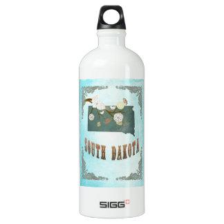 South Dakota Map With Lovely Birds SIGG Traveller 1.0L Water Bottle