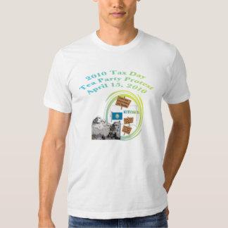 South Dakota Mount Rushmore Tea Party T-Shirt