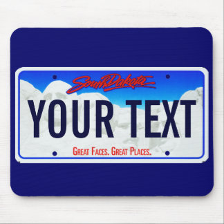 South Dakota mt Rushmore license plate mouse pad