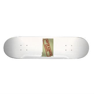 South Dakota Native Stamped on Map Skateboard