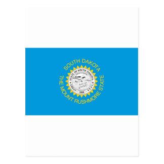 South Dakota  Official State Flag Postcard