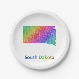 South Dakota Paper Plate