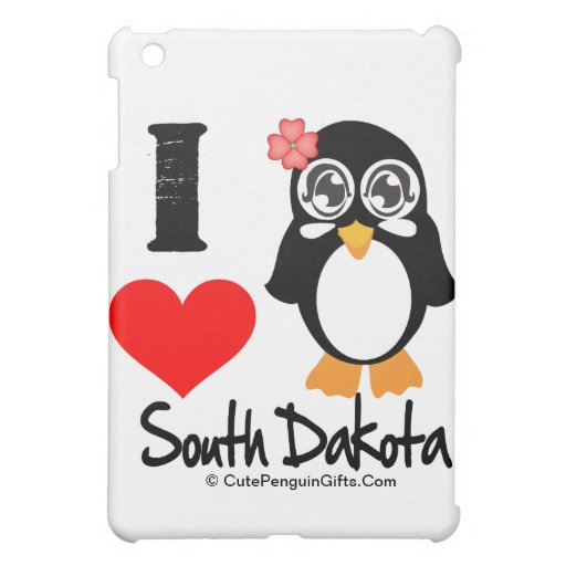 South Dakota Penguin - I Love South Dakota iPad Mini Cover