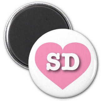 South Dakota Pink Heart - Big Love 6 Cm Round Magnet