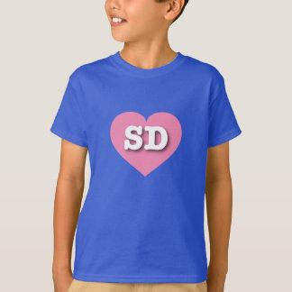 South Dakota pink heart T-Shirt