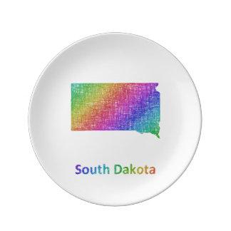 South Dakota Porcelain Plate