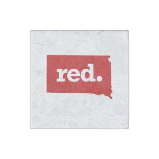 SOUTH DAKOTA RED STATE STONE MAGNET
