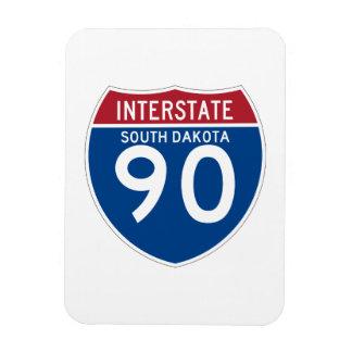 South Dakota SD I-90 Interstate Highway Shield - Rectangular Photo Magnet