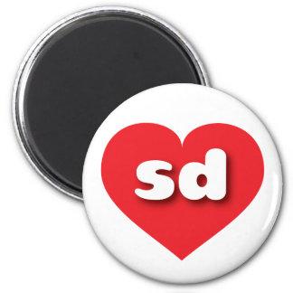 South Dakota sd red heart Fridge Magnet
