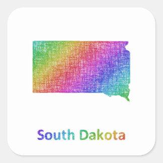 South Dakota Square Sticker